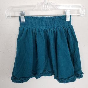 Cherokee Green Corduroy Skirt Girls Size 4T